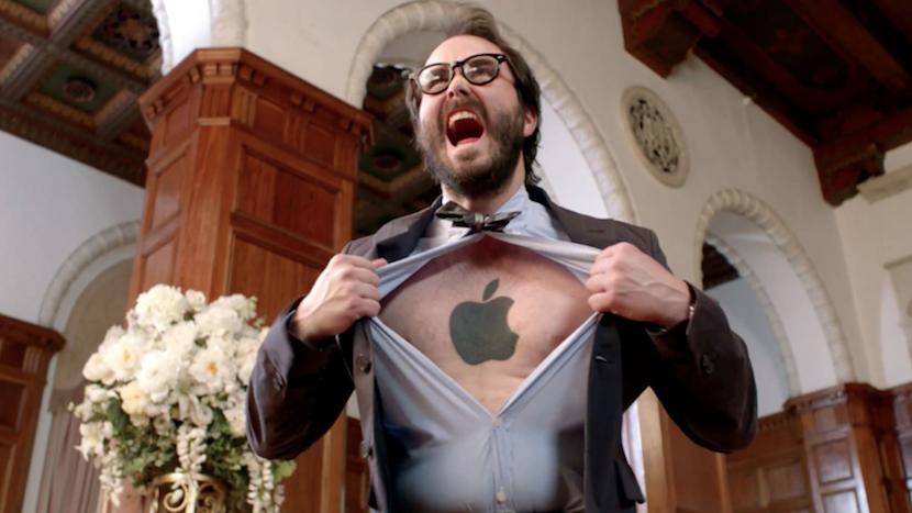 apple logo man